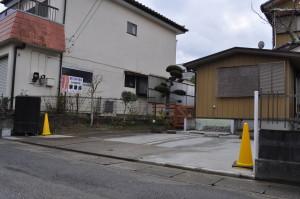 茂原の楽楽屋の駐車場工事生コンクリート完了
