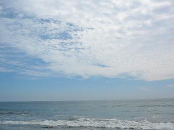 秋めいた九十九里海岸