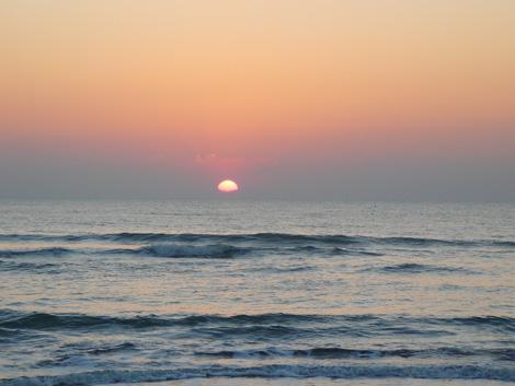 2014年九十九里浜の日の出