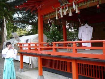 長生郡上総一宮町の玉前神社のおかぐら
