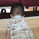 茂原の楽楽屋でハイハイする子供