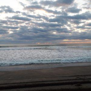 20190101千葉県長生郡白子町の九十九里浜での日の出