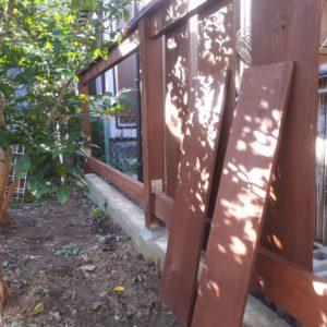 2019台風15号で壊れたフェンスの復旧