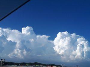 千葉県茂原市から北方向の入道雲