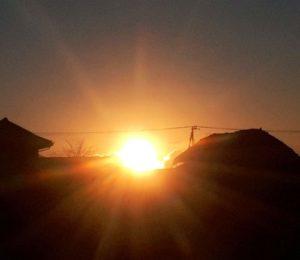 茂原市の近所の空き地から見た初日の出