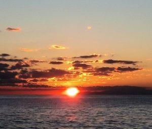 千葉県鋸南町の夕日